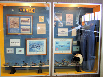 Blue Angels exhibit case
