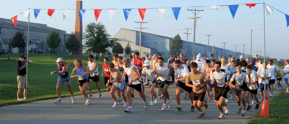 Start of 5K Winged Foot Race