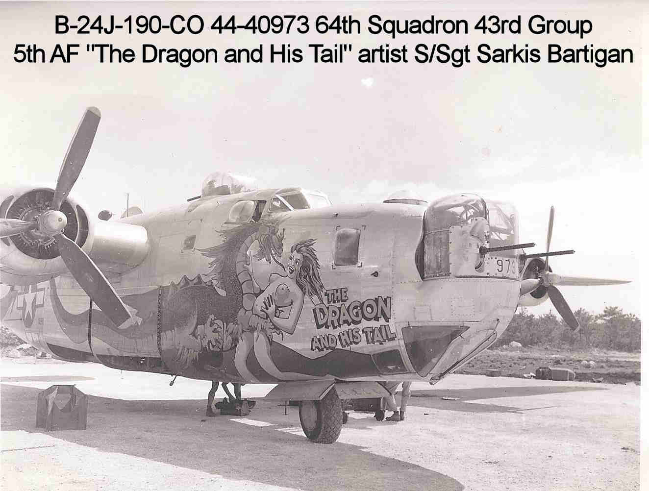 Tail Of The Dragon Photos >> 5th and 7th Air Force Nose Art Photos from Ie Shima 1945