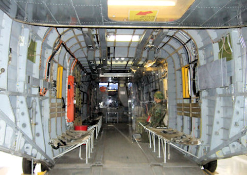 Inside the CH-53A Sea Stallion helicopter